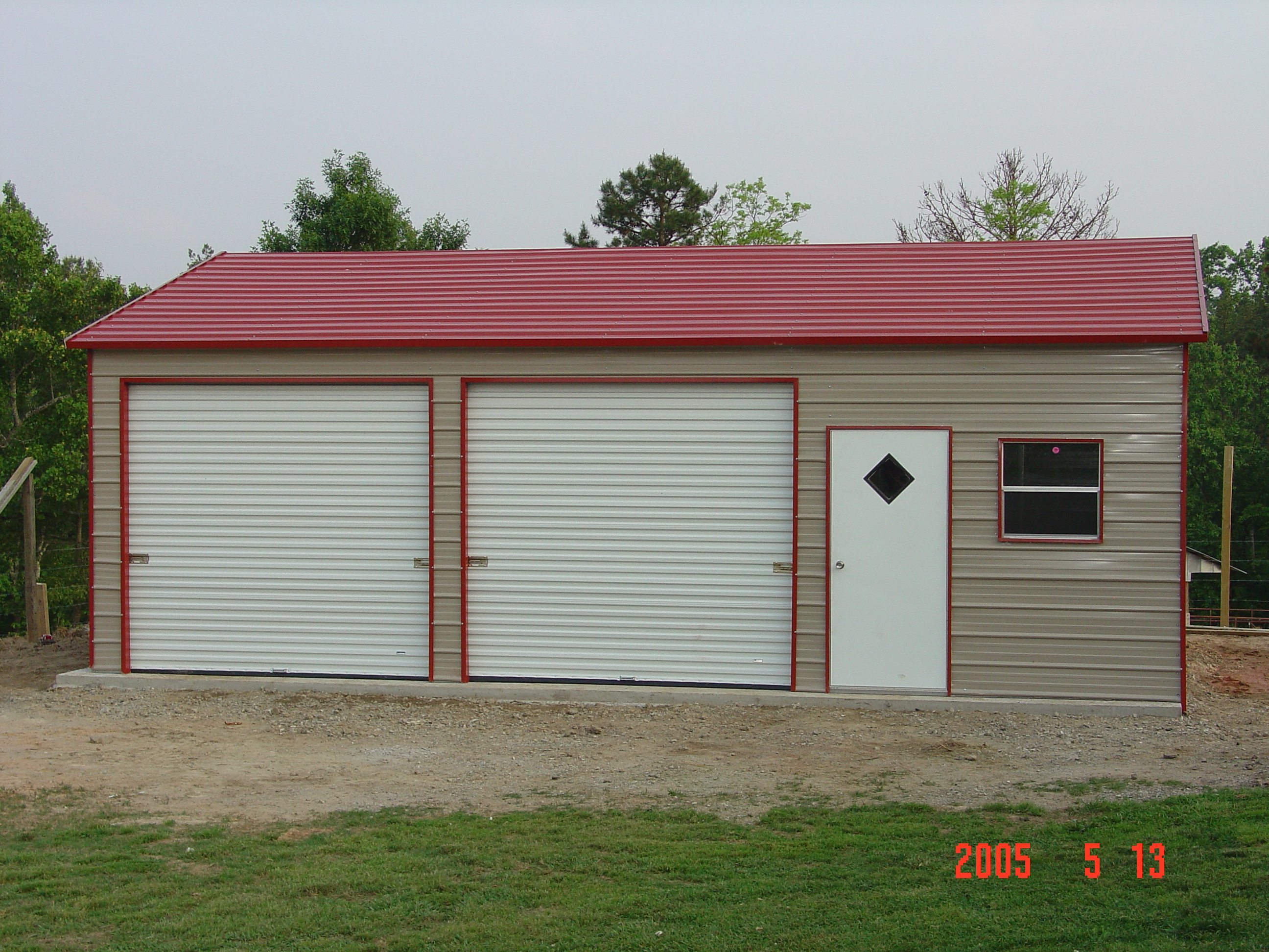 22 X 31 X 10 Boxed Eave Garage Choice Metal Buildings