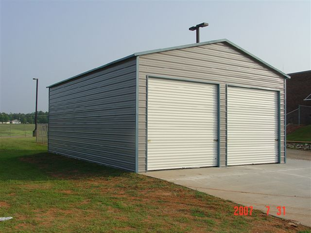 entry garage metal barn central product side