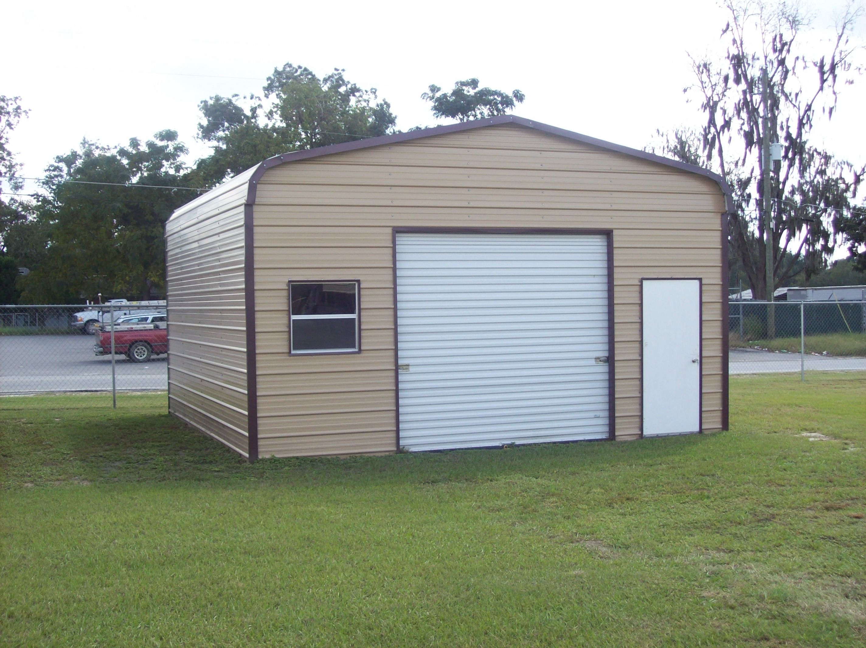 20 x 21 x 10 garage choice metal buildings for Barns garages