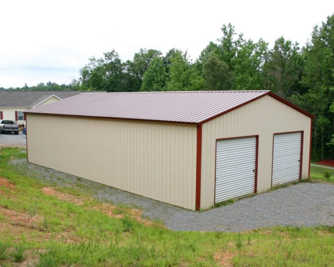 30 x 41 x 12 all vertical garage choice metal buildings for Square foot price to build a garage