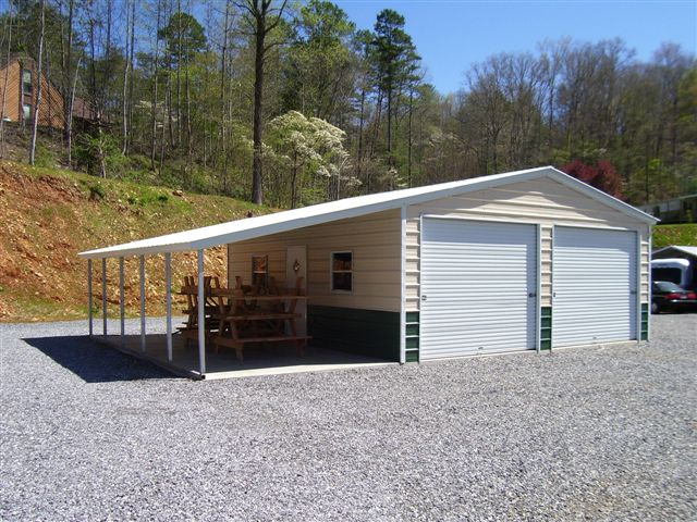 20 x 31 x 9 vertical roof w 12 x 31 x 6 lean to choice for Carports and garages