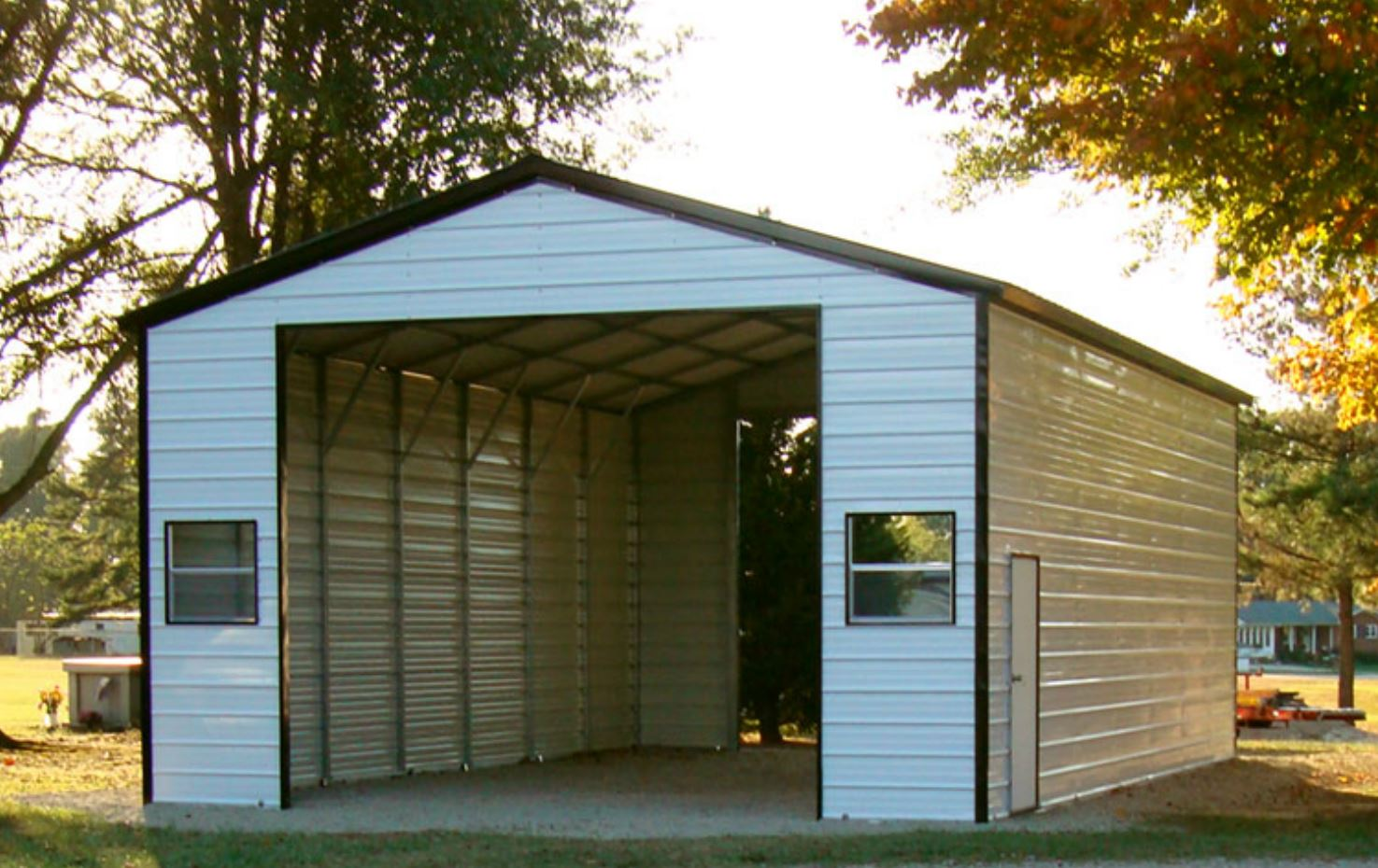 20 X 36 X 12 Vertical Rv Cover Choice Metal Buildings