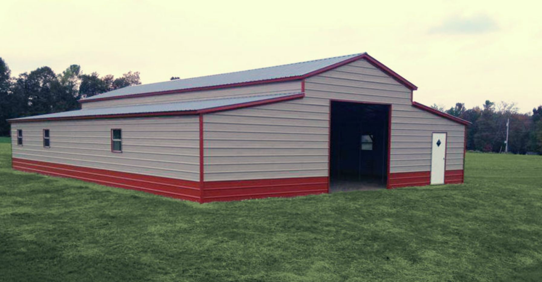 42 X 56 X 12 Boxed Eave Barn Choice Metal Buildings