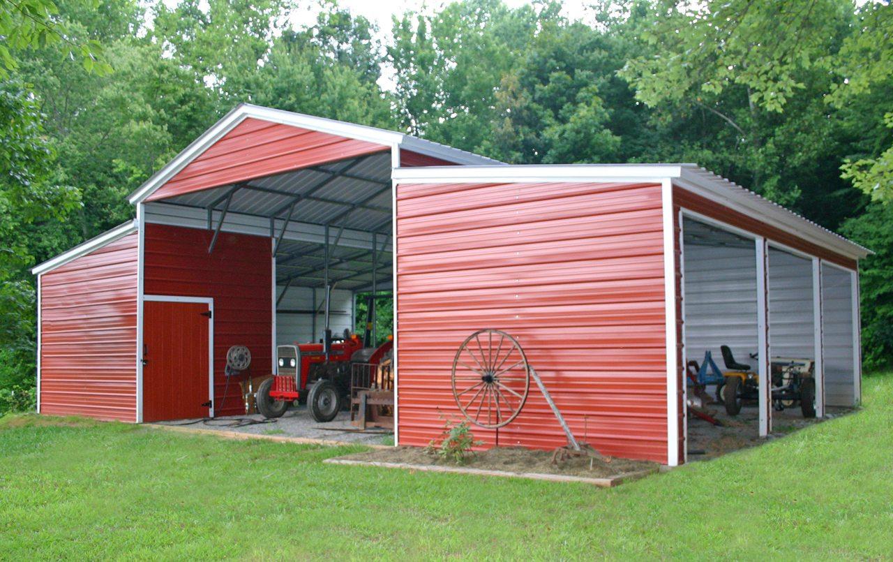 44 X 31 X 12 Vertical Barn Choice Metal Buildings