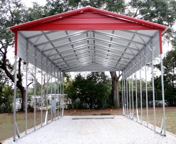 18 X 41 X 12 Carport Choice Metal Buildings