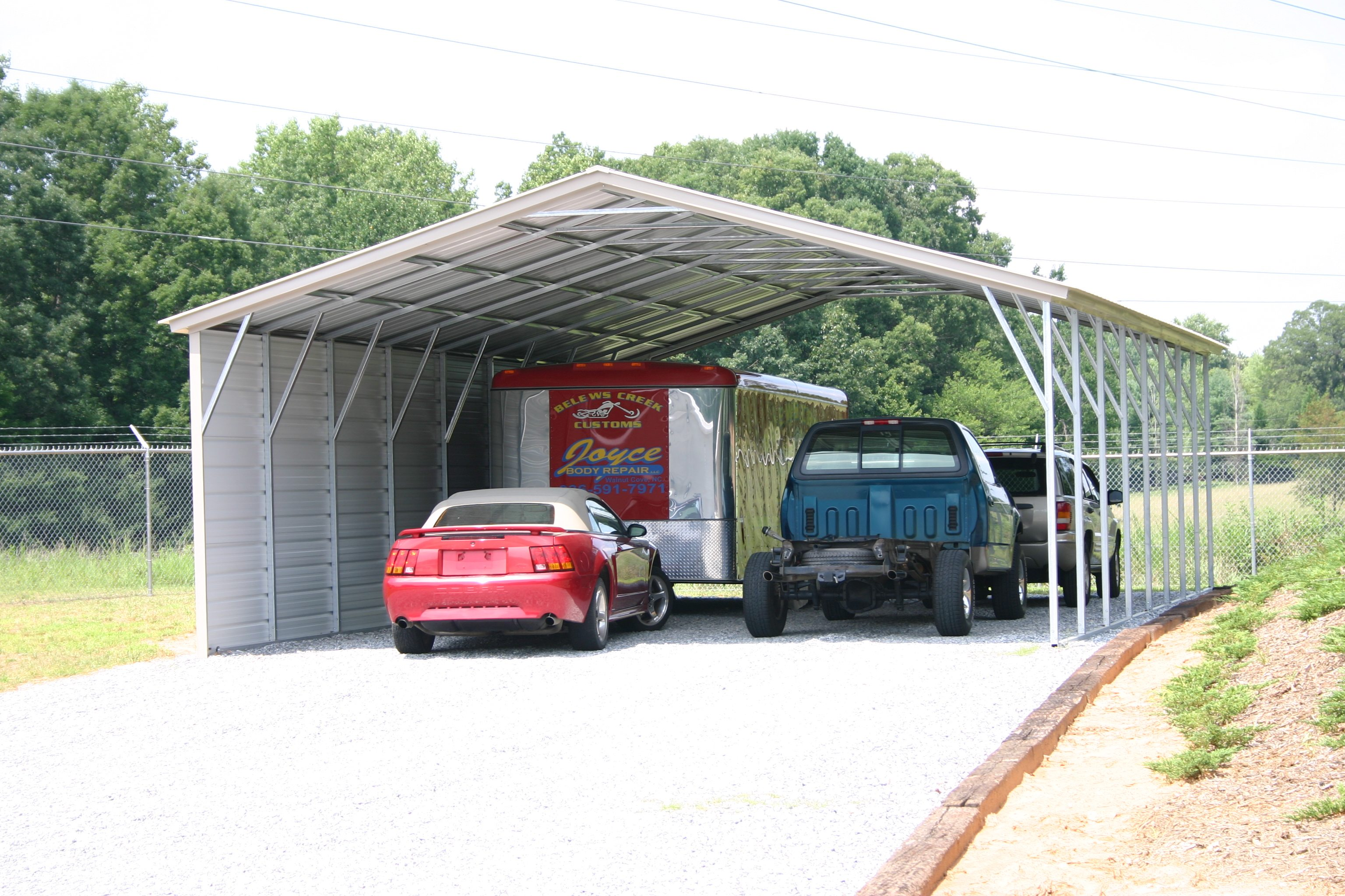 24 X 41 X 10 Carport Certified Choice Metal Buildings